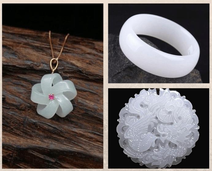 10 белых драгоценных камней. Нефрит