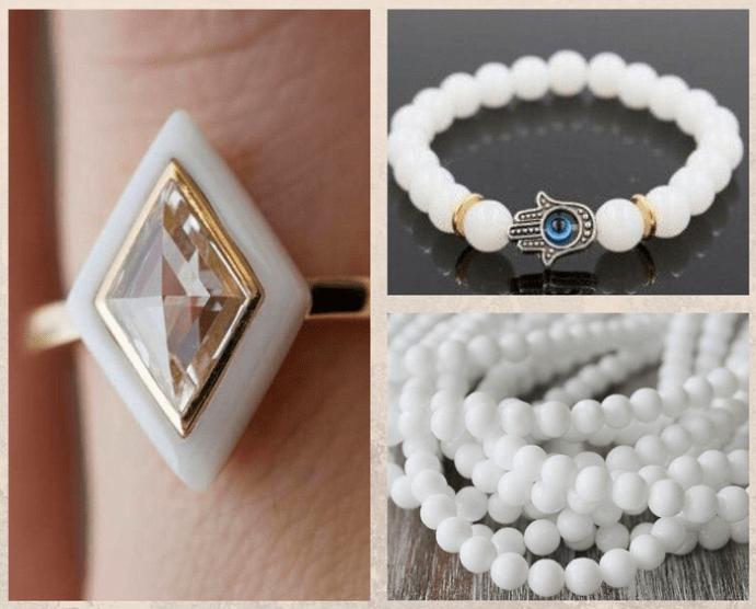 10 белых драгоценных камней. Оникс