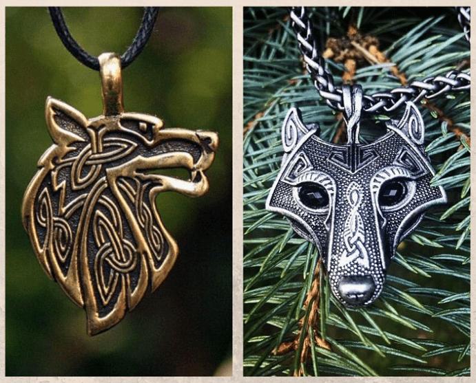 Подвеска Волк: бесстрашный, преданный, злой. История символа