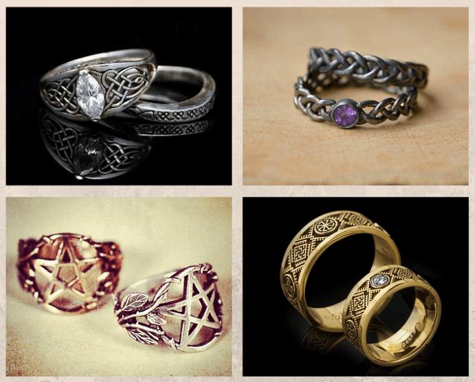 Языческие обручальные кольца. Виды