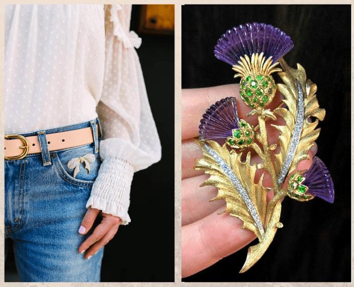 13 оригинальных способов носить брошь, на талии