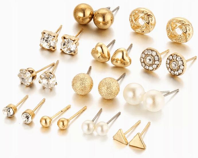 Золотые серьги пусеты, разновидности пусетов