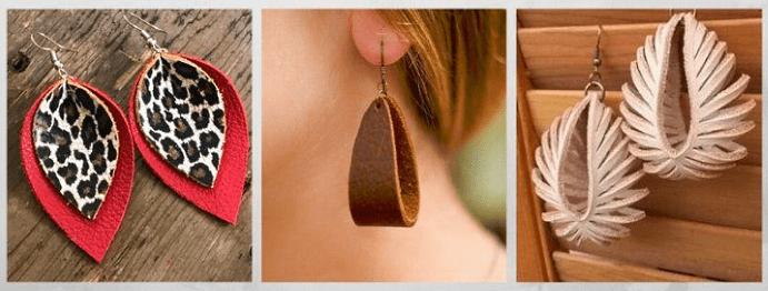 Все о том, какими бывают женские серьги: 40 вариантов на выбор. Кожаные серьги