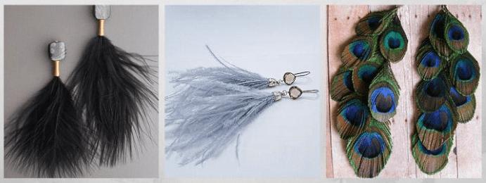 Все о том, какими бывают женские серьги: 40 вариантов на выбор. Серьги из перьев