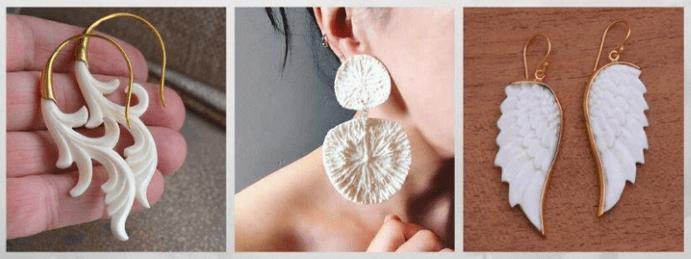 Все о том, какими бывают женские серьги: 40 вариантов на выбор. Костяные серьги