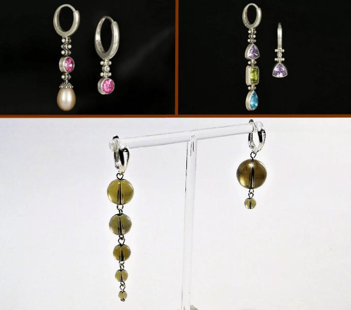 Серьги разной длины в одной паре: правила сочетания оригинальных украшений