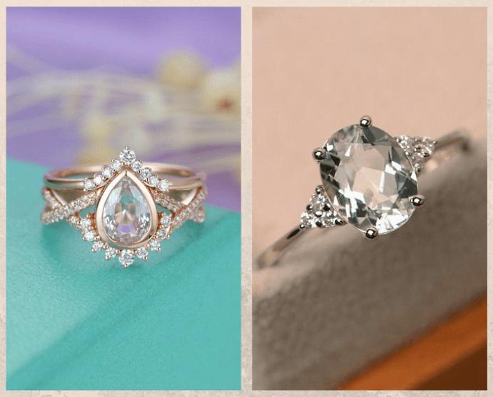 10 бесцветных драгоценных камней. Топаз
