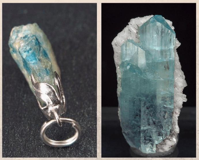 10 бесцветных драгоценных камней. Эвклаз