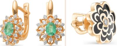 Каких видов бывают красивые золотые серьги? Цветы