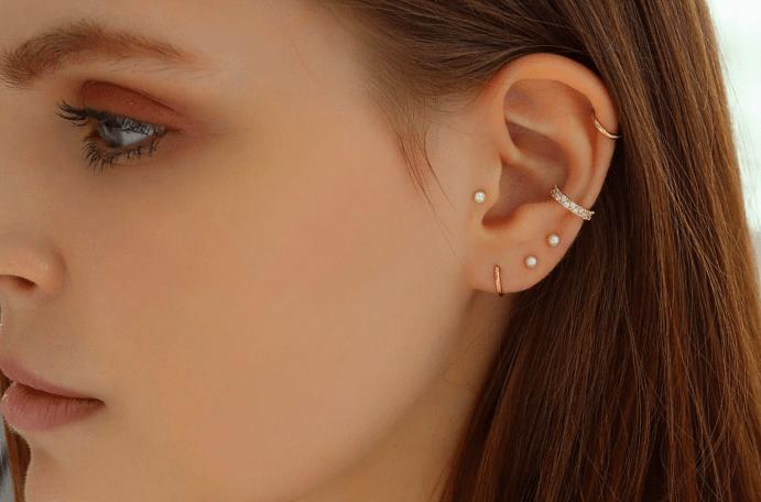 Как называются серьги на хрящ уха, в чем их особенности