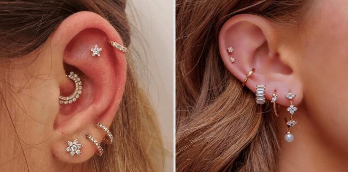 Как называется сережка в хрящ уха, специфика прокола