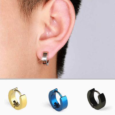 серьги клипсы для мужчин, серьга в левом ухе у мужчины