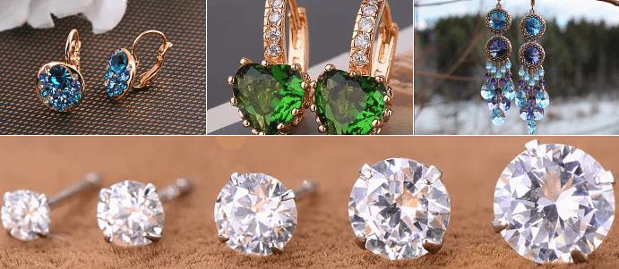 Тенденция ювелирных серег 2020 года – выбрать пару сережек, щедро усыпанных камнями