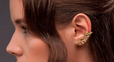 Модные серьги из золота: актуальные решения в нынешнем году. Каффы
