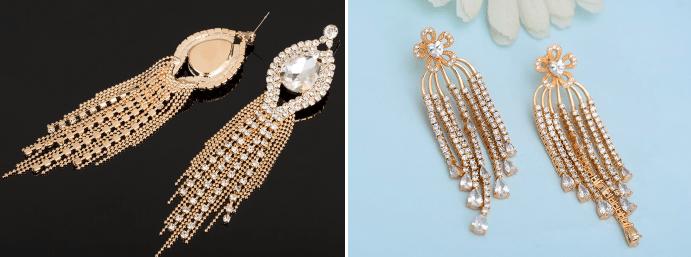 Модные серьги из золота: актуальные решения в нынешнем году. Крупные, массивные, экстремально длинные изделия