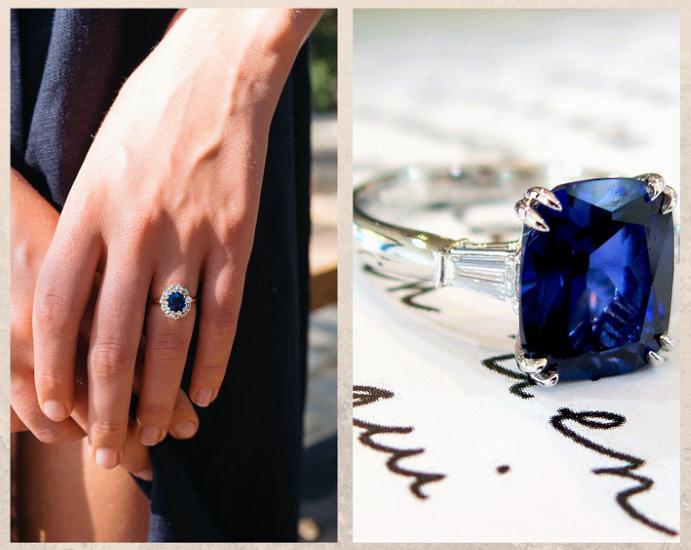 Не только бриллианты: камни, которые смотрятся в помолвочном кольце не хуже. Сапфир