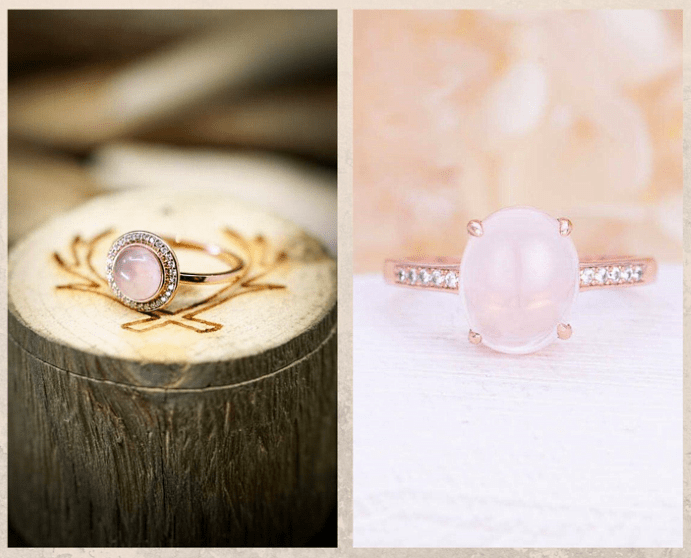 Не только бриллианты: камни, которые смотрятся в помолвочном кольце не хуже. Розовый кварц