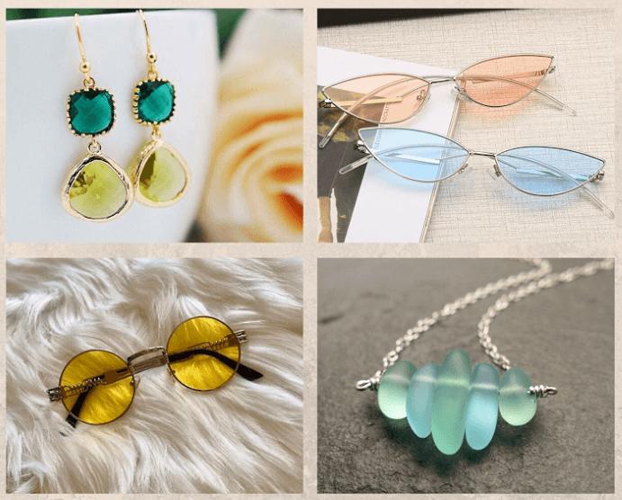 Как носить ювелирные украшения с очками. Цвета и дизайн