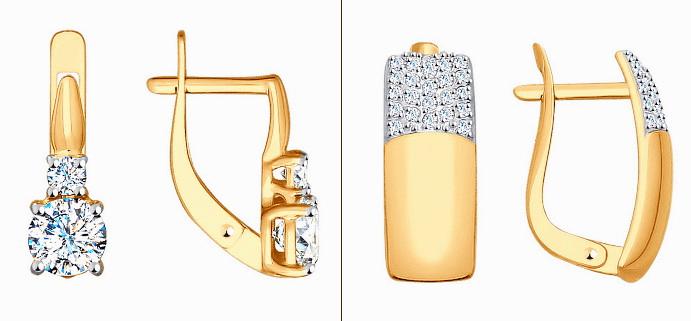 Как подобрать красивые серьги для подростков? Английский замок, золотые серьги для девочек
