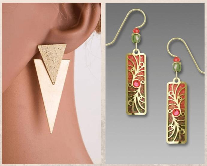 Серьги-пластины, особенности модели
