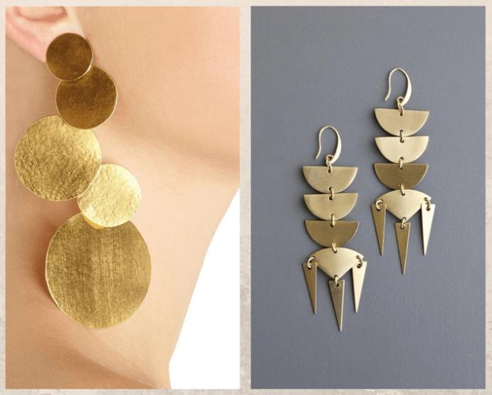 Серьги-пластины, преимущества и недостатки, как носить
