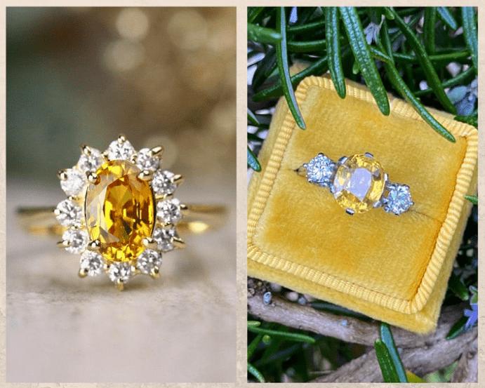 10 желтых драгоценных камней. Сапфир
