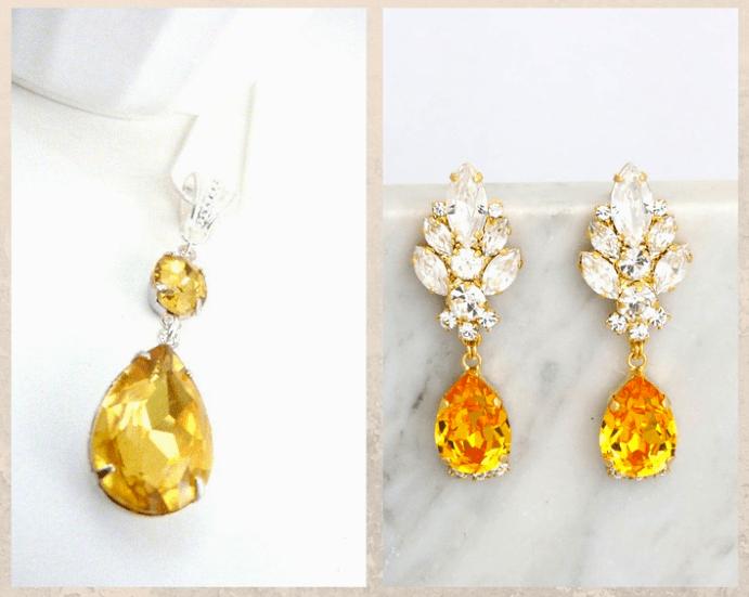 10 желтых драгоценных камней. Топаз