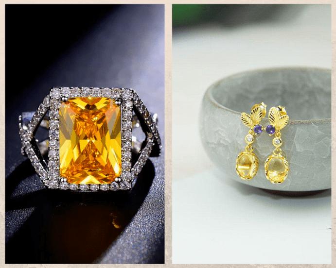 10 желтых драгоценных камней. Цитрин