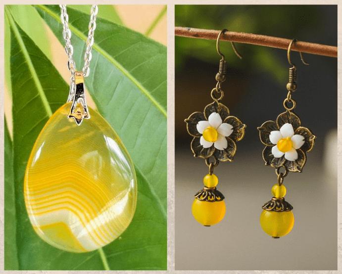 10 желтых драгоценных камней. Агат