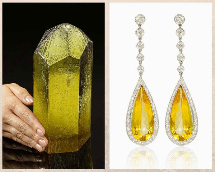10 желтых драгоценных камней. Гелиодор
