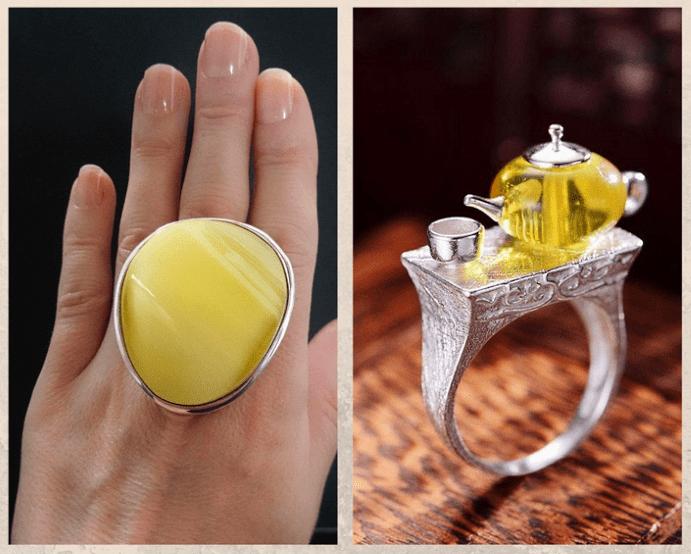 10 желтых драгоценных камней. Янтарь
