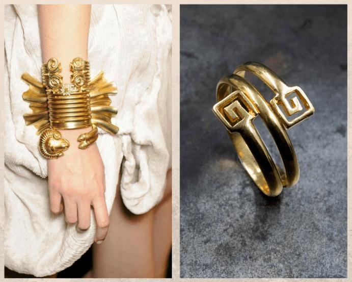 Украшения в греческом стиле, мотивы и символы, цвета