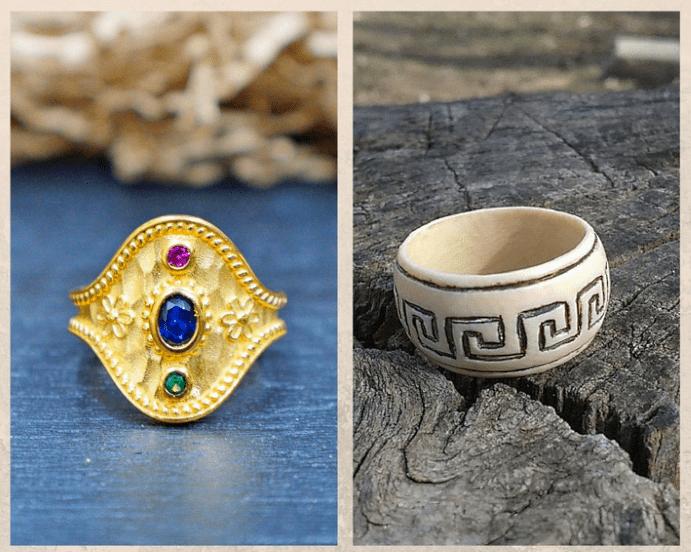 С чем носить украшения, выполненные в греческом стиле