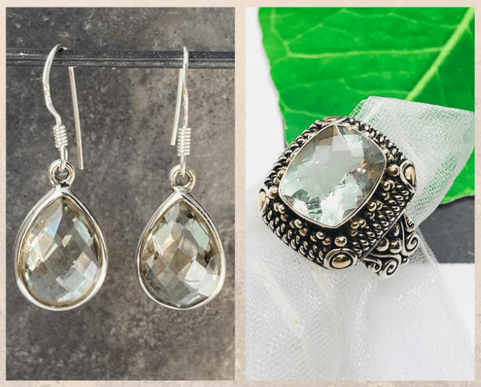 Цвета и свойства камня празиолита, известные месторождения, украшения с празиолитом
