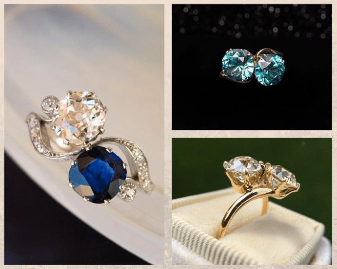 Что означают кольца с двумя камнями, дизайн, как носить
