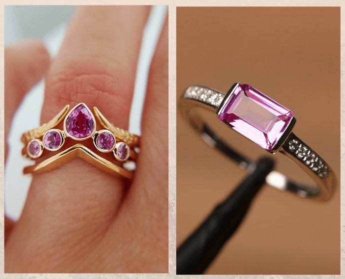 10 розовых драгоценных камней. Сапфир