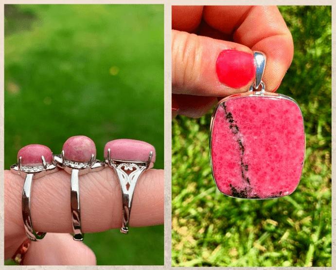 10 розовых драгоценных камней. Родонит