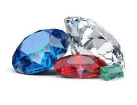 Драгоценные камни первого порядка: лучшие из лучших. Алмаз, синий сапфир, рубин, изумруд