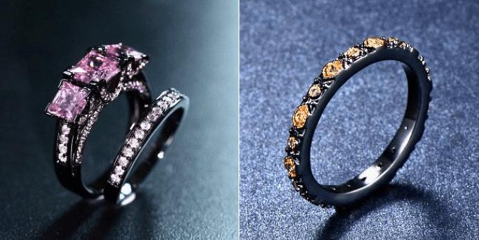 Особенности украшений из черного золота