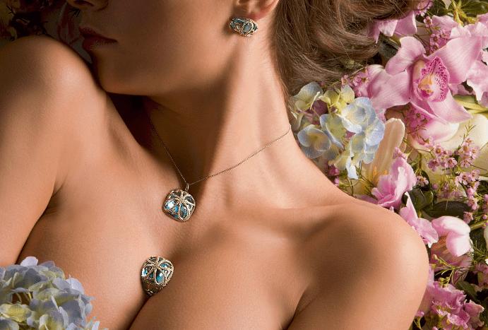 Особенности ношения золотых украшений с бриллиантами и натуральными камнями