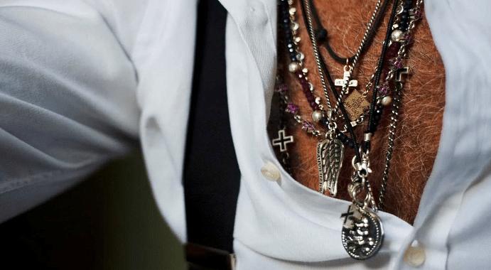 Стильные ювелирные украшения на шею для мужчин