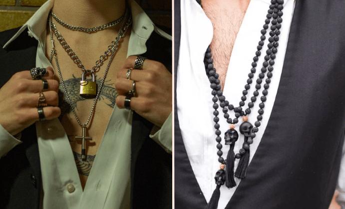Стильные ювелирные украшения на шею для мужчин. Цепочки и подвески для мужчин