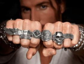 Серебряные ювелирные украшения для мужчин