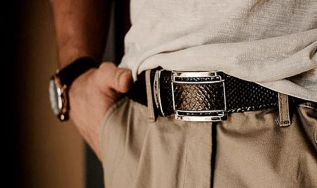 Виды ювелирного серебра для джентльменов. Пряжка для ремня из серебра