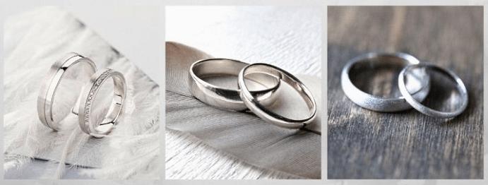 Модные обручальные кольца 2020 года. Белое золото