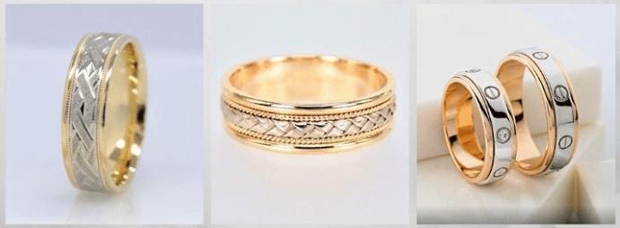 Модные обручальные кольца 2020 года. Комбинированные
