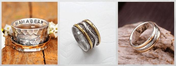 Модные обручальные кольца 2020 года. Антистресс
