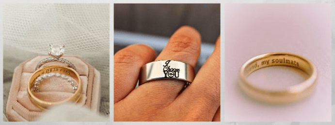 Модные обручальные кольца 2020 года. С гравировкой