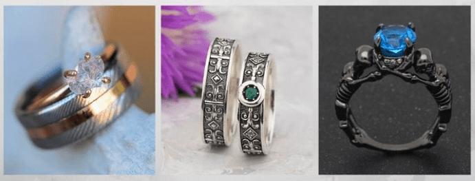 Модные обручальные кольца 2020 года. Один камень
