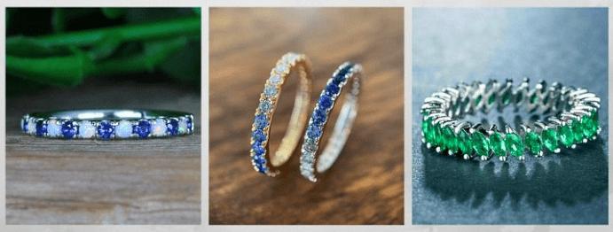 Модные обручальные кольца 2020 года. Дорожка